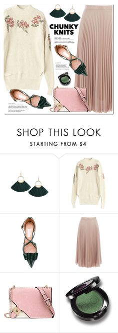 """Get Cozy: Chunky Knits"" by duma-duma ❤ liked on Polyvore featuring L'Autre Chose, Warehouse, Christina Choi Cosmetics and chunkyknits"