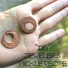 Tutorial Thursday - Recipe to Make your own Natural Jeweler's Pickle