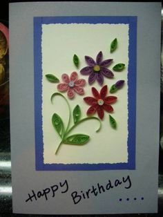 Simple Card - Quilled Creations Quilling Gallery