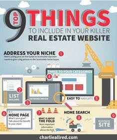 9 Must Have's for your Real Estate website. #realtor #realestate #RealEstateMarketing