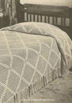 Diagonal Bedspread - Free Crochet Pattern