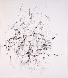 Karl Pilato, ink on handmade Japanese paper, 26 x 23 in., 2013