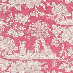 red & white pierre deux toile