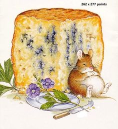 mouse and cheese cross stitch pattern by lutindescroix on Etsy