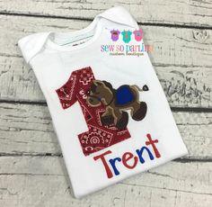 1st Birthday Horse shirt Baby Boy Birthday Horse by SewSoDarling