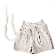Da 2 anni a 12 anni gonna pantalone in cotone color ecru morbida fascia elastica in vita cintura a fusciacca capo morbido e confortevole.P/E 2016