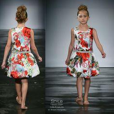 Loren Franco Designs Spring/Summer 2016 - floral silk dress