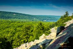 A summer view from the south shore of Devil's Lake State Park - www.devilslakewisconsin.com
