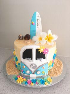 Bolo Hippie, Hippie Cake, Teen Cakes, Girl Cakes, Torta Matilda, Beautiful Cakes, Amazing Cakes, Surfer Cake, Cake Cookies