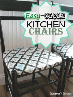 Kammys Korner Cover Chairs Kitchen Dining With Vinyl Table Clothes For Easy Clean