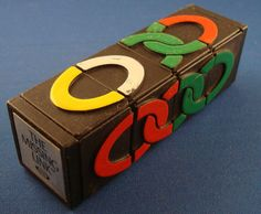 ★ 1980s IDEAL MISSING LINK RUBIK CUBE STYLE VINTAGE PUZZLE TOY THINKING STRATEGY We still have this!