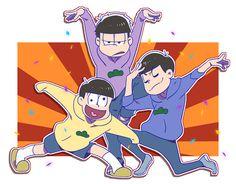 Osomatsu-san Ichimatsu, Jyushimatsu & Karamatsu #Anime「♡」 「osmtsn」/「夏生」の漫画 [pixiv]