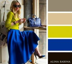 Color Blocking Outfits For An Eye Catching Look This Spring Colour Combinations Fashion, Color Combinations For Clothes, Fashion Colours, Colorful Fashion, Color Combos, Color Schemes, Mode Outfits, Casual Outfits, Fashion Outfits
