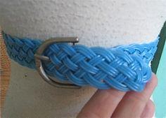 50s Ladies BLUE  PLASTIC BRAIDED Belt 1950s by Flipsville on Etsy, $17.00