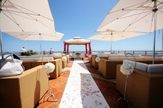Pink White wedding ceremony Algarve Portugal by Algarve Wedding Planners