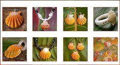 Sunrise shells Hawaii jewelry design.
