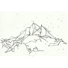 Mountain Line Drawing Print 5x7 ($12) found on Polyvore