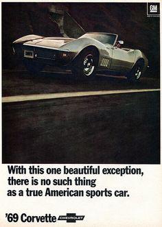 1969 Chevrolet Corvette Advertising Hot Rod Magazine January 1969