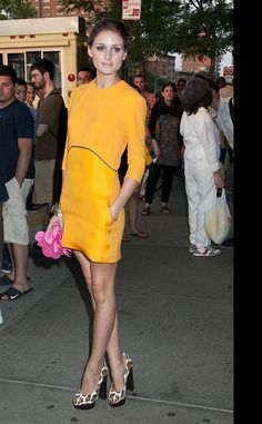 Olivia Palermo de Victoria Beckham. Love this color.