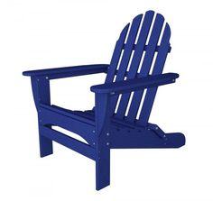 "POLYWOOD Adirondack Chair (Pacific Blue) (35.75""H x 29.00""W x 35.75""D)"