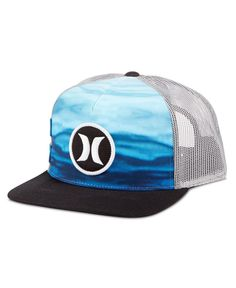 Hurley Men s Block Party Flow Graphic-Print Snapback Hat Hurley Clothing 263651c7f508