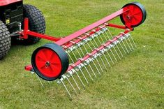 60 inch towable lawn scarifier. Towable scarifying rake for removing moss and thatch from your lawn or fields. Lawns and horse paddocks benefit from scarifying ensuring healthy grass growth.  For more info: http://www.fresh-group.com/scarifying-rakes.html