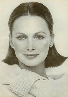 Estee Lauder 1975.  One of the first models I remember! Classic beauty!