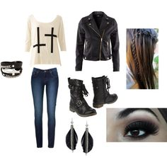 Edgy fashion!  Perfect for fall:)