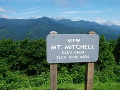 Mount Mitchell, NC ... highest peak in the eastern USA. Part of a long high ridge that also includes the second highest peak, Mt. Craig.