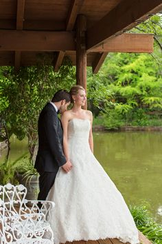 Wedding photos at Clark Gardens' Lake Pavilion Photo Credit - Perez Clark Gardens, Garden S, Pavilion, Photo Credit, Wedding Photos, Wedding Dresses, Fashion, Marriage Pictures, Bride Gowns