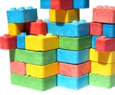 Build yourself a little tower and then eat it!Dont get confused and accidentally eat your Legos. Eat these instead!