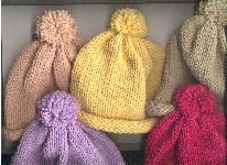 Machine knit pattern for preemie hats, Mile-a-minute #knit