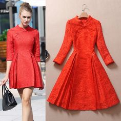 23a115380298 2015 winter red bride toast clothing back doors