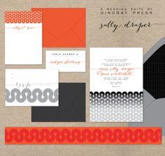 The Sally Draper wedding suite by Dingbat Press