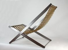 Sculptural limited edition Chain Reaction chair