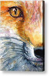 watercolor fox paintings | Animal Watercolor Canvas Prints and Animal Watercolor Canvas Art for ...