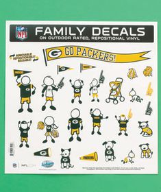 NFL Packers 25-Pc. Family Auto Decal Set Regular Price $9.95, $5.98
