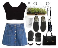 """""""yolo//450?"""" by abbycollier02 ❤ liked on Polyvore featuring H&M, Vans, NARS Cosmetics, MICHAEL Michael Kors, Givenchy and Nearly Natural"""
