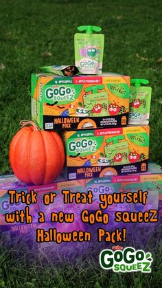 Make this Halloween spooktacular and healthier with GoGo squeeZ. Make sure you have a tasty, nutritious treat to offer your little ghosts and goblins! Our products are crafted with high-quality ingredients to provide wholesome goodness for squeeZing, and enjoying wherever life takes you. And kids love them! Find them in the applesauce aisle!