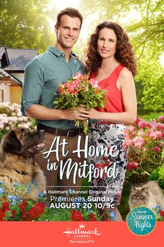 Andie MacDowell stars and executive produces an all new original Hallmark Channel movie, At Home in Mitford.