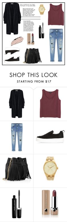 """""""You can try!!!!"""" by maya-catalin ❤ liked on Polyvore featuring Monki, River Island, Whistles, Nixon and Marc Jacobs"""
