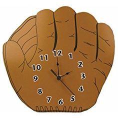 Trend Lab Baseball Glove Shaped Wall Clock, Brown