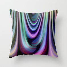 multicolored abstract no. 6 Throw Pillow by Christine baessler - $20.00
