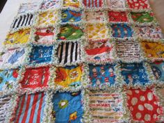 Dr Seuss Cat in the Hat Baby Boy or Girl Rag Quilt Blanket 36x36. $65.00, via Etsy.