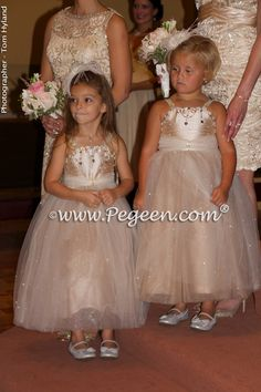 tulle flower girl dresses by Pegeen.com