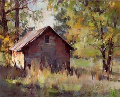 Tom Nachreiner Old Red Shed Farm Paintings, Art Painting, Landscape Paintings, Oil Painting Landscape, Painting, Art, Barn Art, Landscape Art, Barn Painting