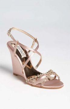 Badgley Mischka Satin W/rhinestones Wedding Shoes $100