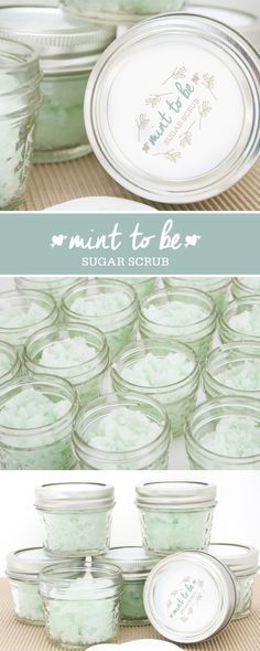 DIY Mint to Be Sugar Scrub: Bridal Shower Favor