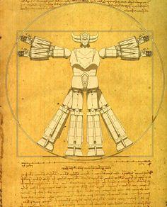 Goldorak, designed by Leonardo Da Vinci Old School Movies, Robot Cartoon, Cool Robots, Super Robot, Animation, Retro Futurism, Science Fiction, Manga Anime, Funny Pictures