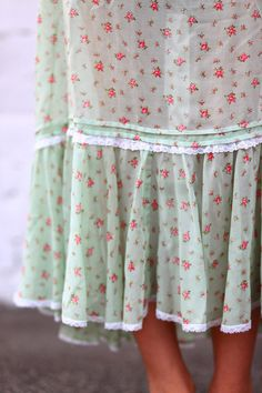 prairie skirt with roses